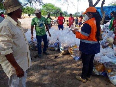 SEN distribuye 29.500 kilos de alimentos a nativos del Bajo Chaco