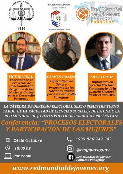 """Harán conferencia """"Procesos electorales y participación de las mujeres"""""""