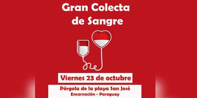 GRAN COLECTA DE SANGRE EN LA PÉRGOLA DE LA PLAYA SAN JOSÉ DE ENCARNACIÓN.
