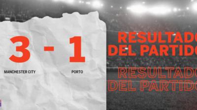 Manchester City paseó a Porto y selló su triunfo 3 a 1