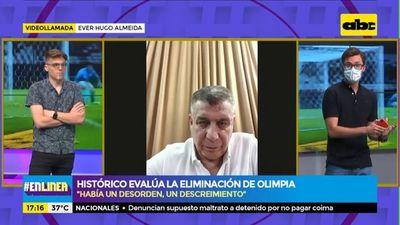 Ever Hugo Almeida evalúa la eliminación de Olimpia