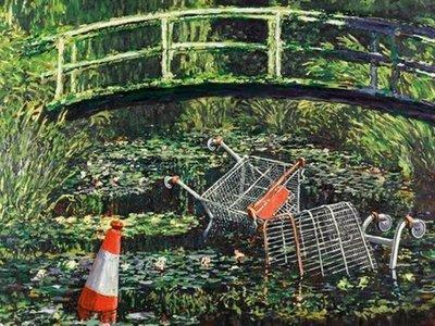 Se vende por 8,3 millones una reinterpretación de Monet ejecutada por Banksy