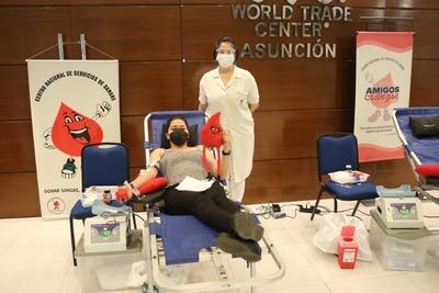 Realizan jornada de donación de sangre en el WTC Asunción