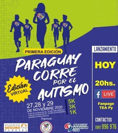 """Se viene """"Paraguay corre por el Autismo"""" en su versión virtual"""