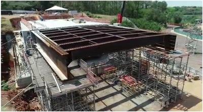 Comienzan a construir la CALZADA de la cabecera brasileña del SEGUNDO PUENTE