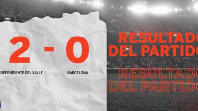 En su casa, Independiente del Valle venció a Barcelona por 2 a 0