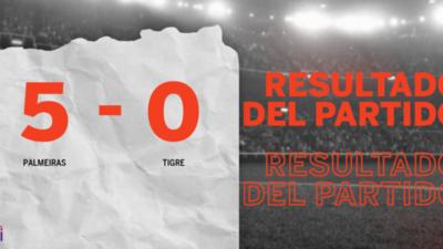 Goleada de Palmeiras 5 a 0 sobre Tigre