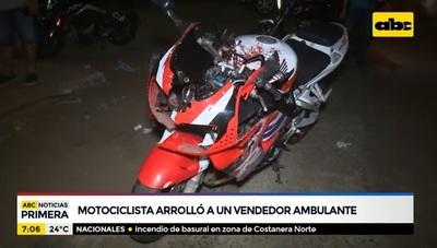 Muere vendedor ambulante tras ser embestido por motociclista