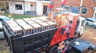 Repatriación: Dos nuevas construcciones en escuelas serán amobladas totalmente