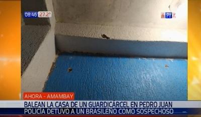 Desconocidos balean casa de guardiacárcel en Pedro Juan