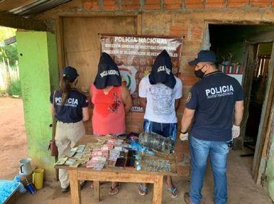 Guairá: Detienen a pareja que se dedica a la presunta venta de estupefacientes