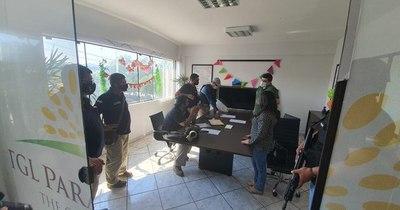 La Nación / Cocaína incautada: allanan oficinas que figuraban como domicilio del exportador
