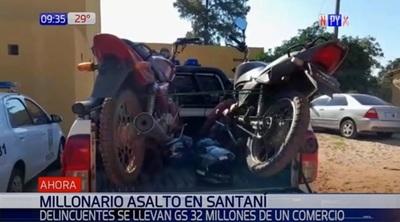 Delincuentes asaltan comercio en Santaní y se llevan millonaria suma