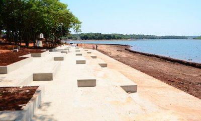 Playa escalonada con 30% de avance en futura costanera de CDe