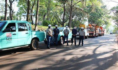 ANDE intensifica reparación de alumbrados en Franco