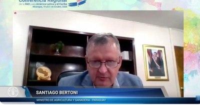 La Nación / Bertoni destaca digitalización de la agricultura, en conferencia de la FAO