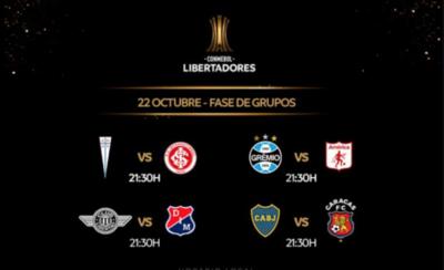 HOY / Cuatro partidos cierran la fase de grupos de la Libertadores