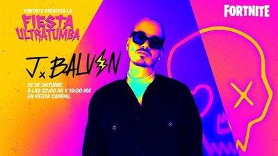 J Balvin dará un concierto en el mundo Fortnite por Halloween