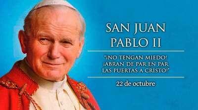 Fiesta de San Juan Pablo II en la explanada de la Catedral de Asunción
