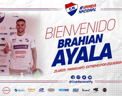 Nacional le da la bienvenida a Brahian Ayala