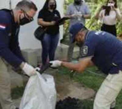 Incautan caja fuerte y documentos en San Bernardino