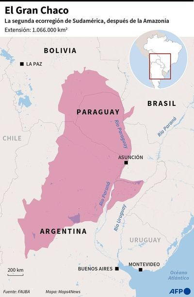 Sequía e incendios en el centro de América del Sur