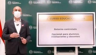 Mazzoleni confirma retorno a clases para alumnos del último año