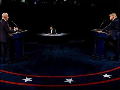Trump y Biden en debate final sin golpes desestabilizadores
