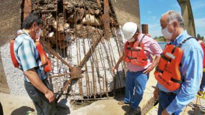 Verifican avances de las obras del Puente Remanso