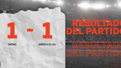Grêmio y América de Cali se repartieron los puntos en un 1 a 1