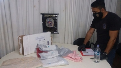 Decomisan otra encomienda con cocaína perteneciente a brasileño apresado en CDE