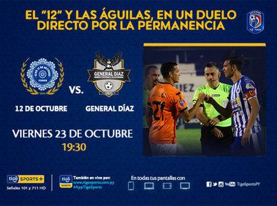 12 de Octubre y General Díaz, rivales directos por el promedio