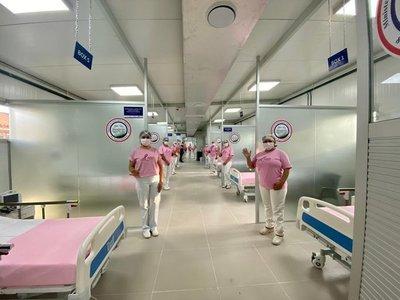 Gobierno inaugura otro de los 6 pabellones de contingencia construidos para pacientes COVID-19