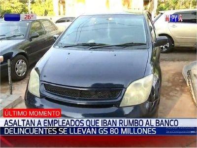 Se llevan G. 80 millones en asalto a un empleado que iba al banco