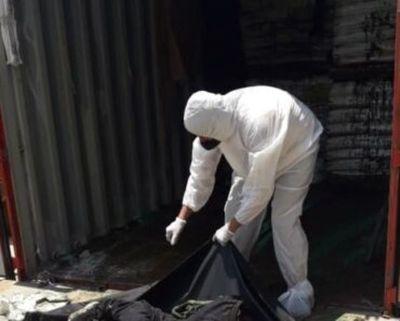 Encuentran 6 cuerpos en contenedor