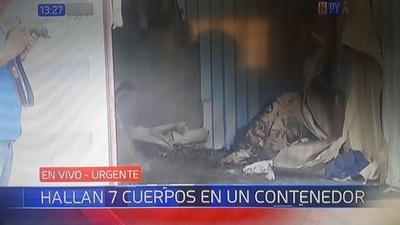Son siete los cadáveres hallados en contenedor