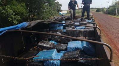 Camión narco es interceptado por Senad y detienen a 3 personas