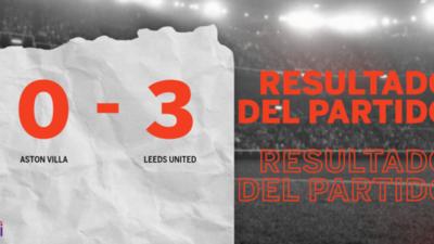 Triunfo de Leeds United ante Aston Villa con hat-trick de Patrick Bamford