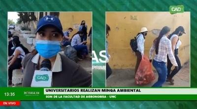 Universitarios realizan Minga Ambiental en Concepción