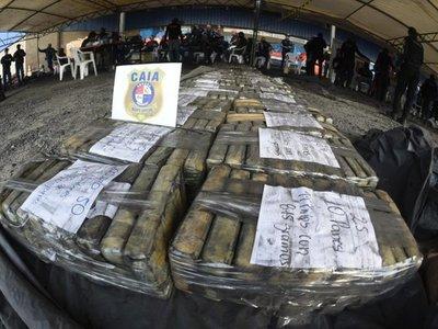 Totalizan 2.906 kilos de cocaína hallados en 11 contenedores en Villeta