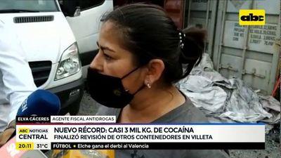 Nuevo record: Casi 3 mil kilogramos de cocaína