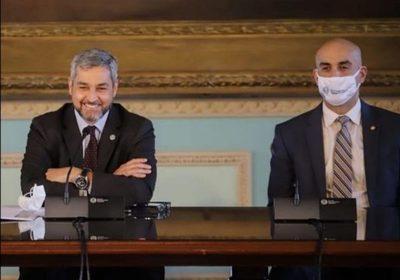 Mario Abdo dio negativo a la prueba de covid y dengue, confirma Mazzoleni
