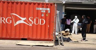 La Nación / Hallan siete cadáveres en contenedor con fertilizantes