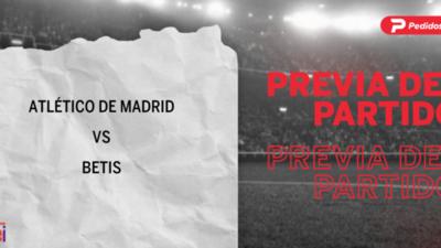 Atlético de Madrid recibirá  a Betis por la Fecha 7