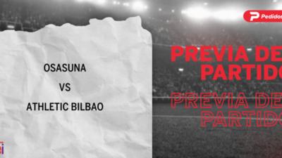 Osasuna recibirá  a Athletic Bilbao por la Fecha 7