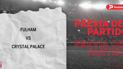 Fulham recibirá  a Crystal Palace por la Fecha 6