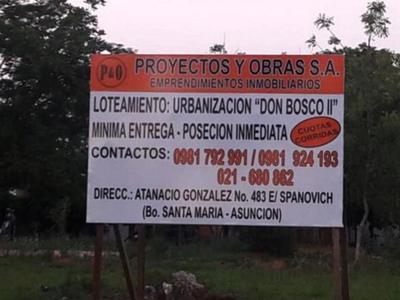 Denuncian venta de tierras donadas para comunidades