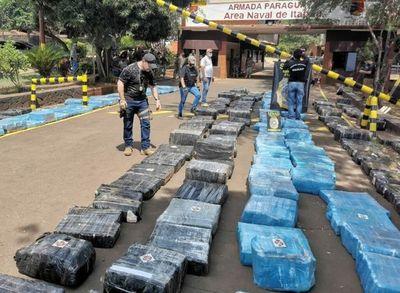 Más de 10 toneladas de marihuana fue cargamento incautado en Itapúa