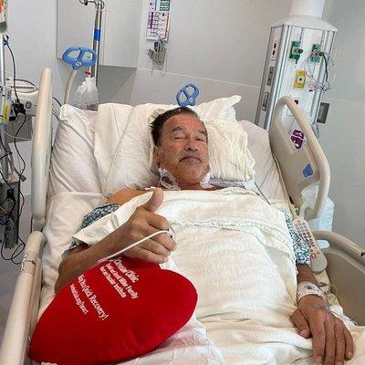Arnold Schwarzenegger fue operado por tercera vez del corazón