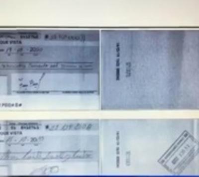 Millonaria estafa con cheques robados
